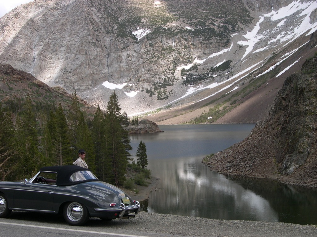 Diane & her Roadster at Lake Tenaya