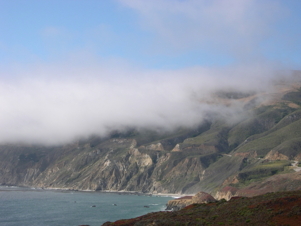 The Coastal Fog envelopes Highway One.